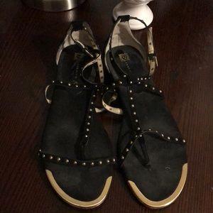Anne Klein Black & Gold Sandals